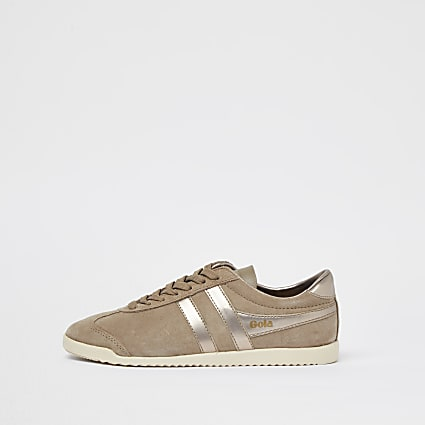 Gola beige lace up trainers