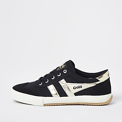Gola black retro vegan lace up trainers