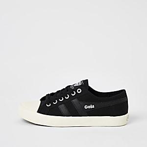 Gola – Schwarze Sneaker aus veganem Material
