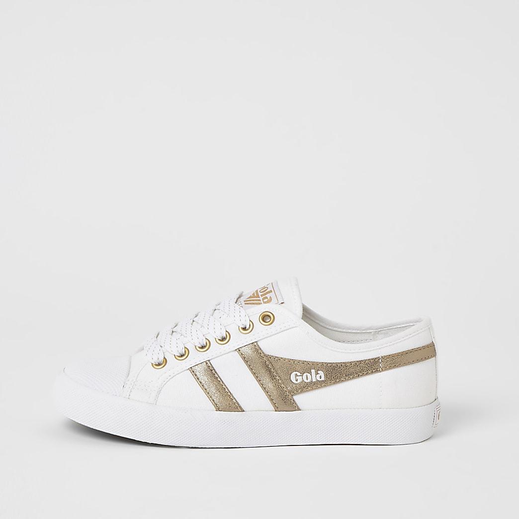 Gola – Sneaker in Creme aus veganem Material