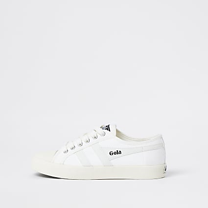 Gola classics white vegan trainers