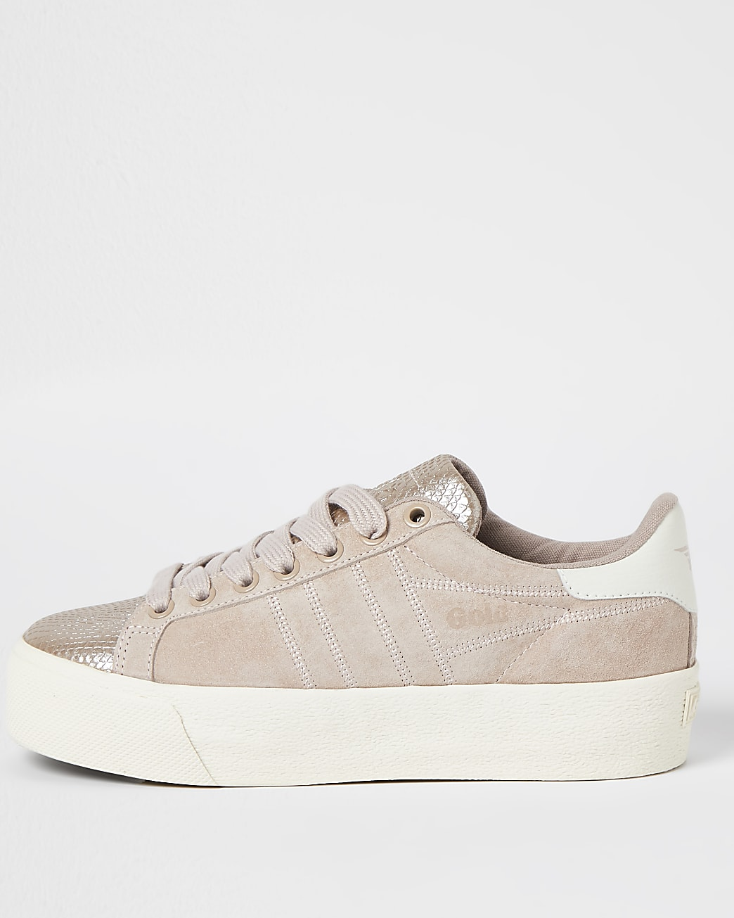 Gola pink lace up trainers