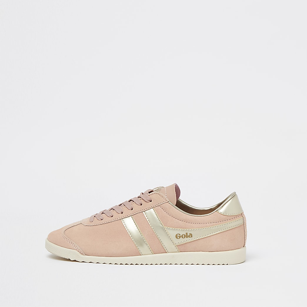 Gola pink retro lace up trainers