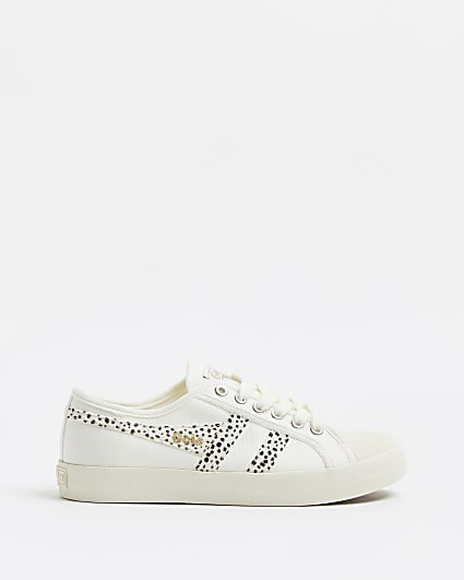 Gola white animal print classic trainers