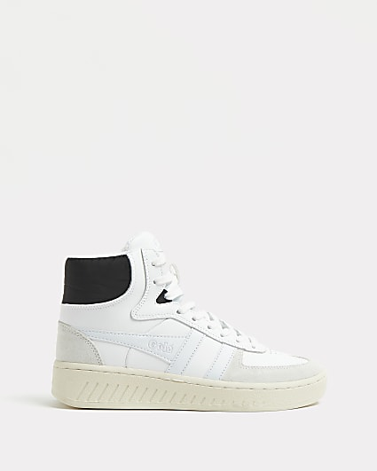 Gola white high top trainers