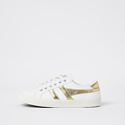 Gola white vegan tennis trainers