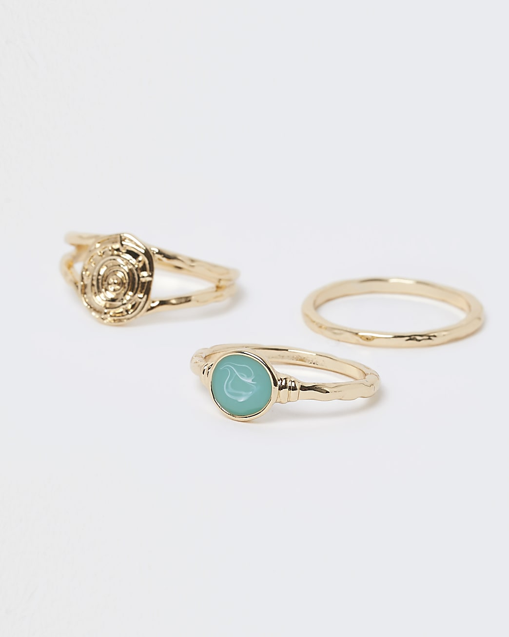 Gold 3 pack stacking rings