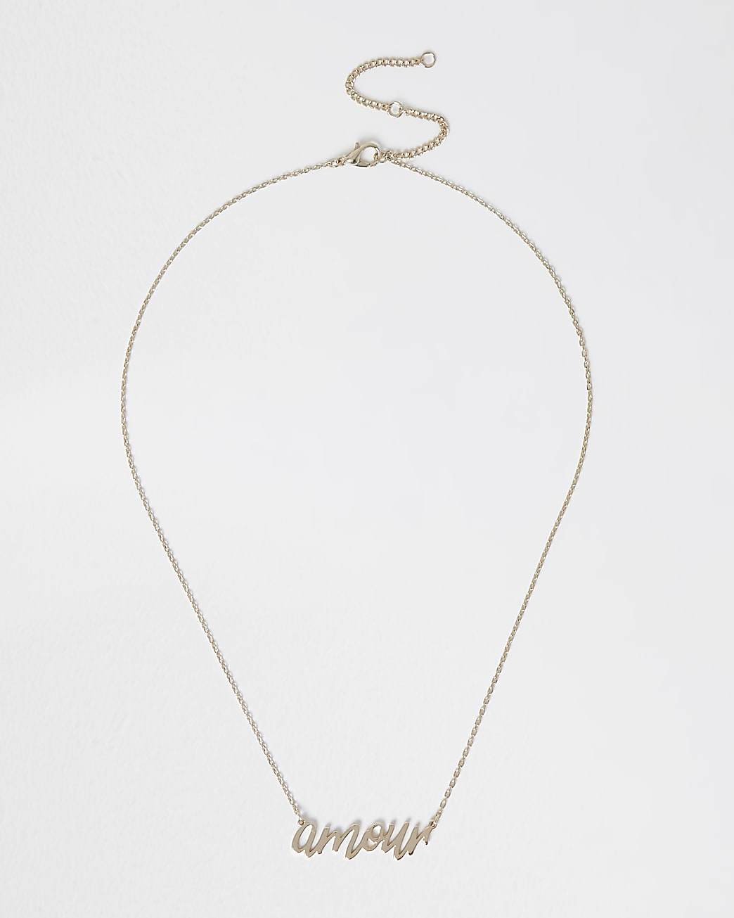 Gold Amour ditsy necklace
