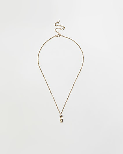 Gold body pendant necklace