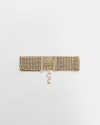 Gold chainmail choker