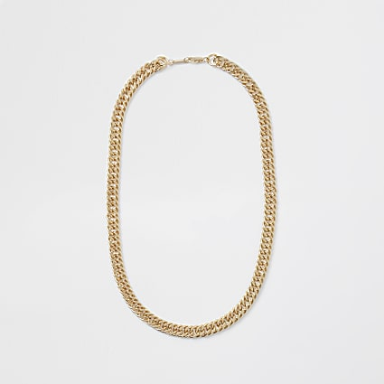 Gold chunky gold chain necklace