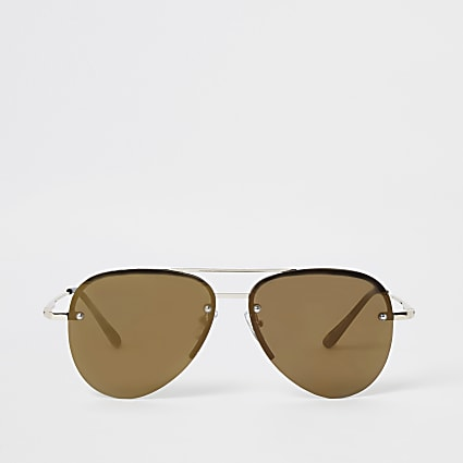Gold colour aviator sunglasses