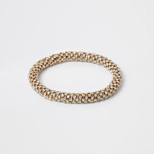 Gold colour bobble rope bracelet