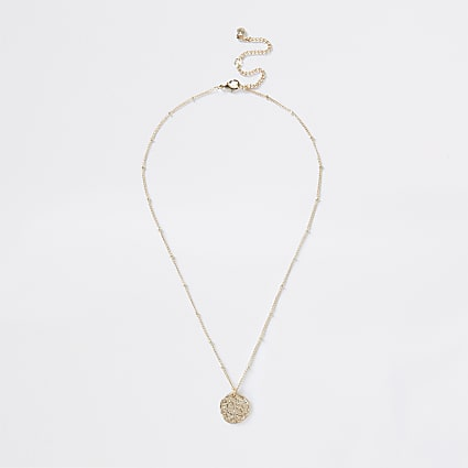 Gold colour capricorn horoscope coin necklace