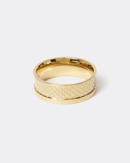 Gold colour celtic swirl ring
