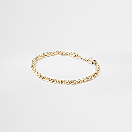 Gold colour chain bracelet