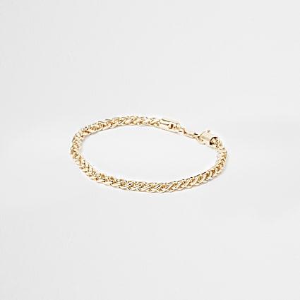 Gold colour chain bracelet