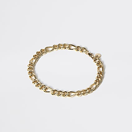 Gold colour chain link bracelet