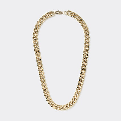 Gold colour chunky chain necklace