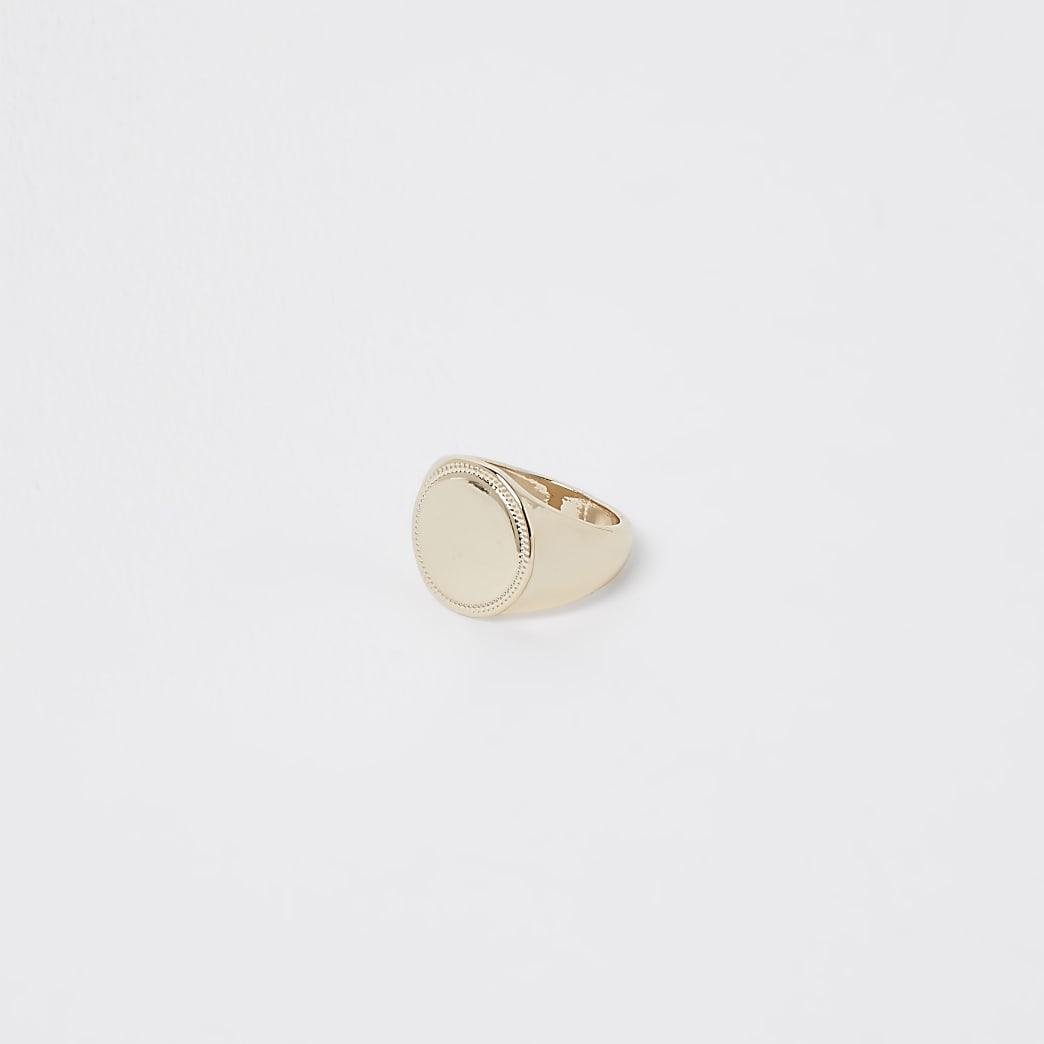 Gold colour chunky circle ring