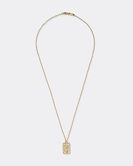 Gold colour dragon necklace