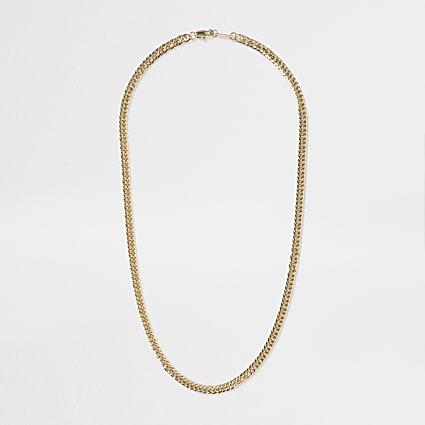 Gold colour figaro chain necklace