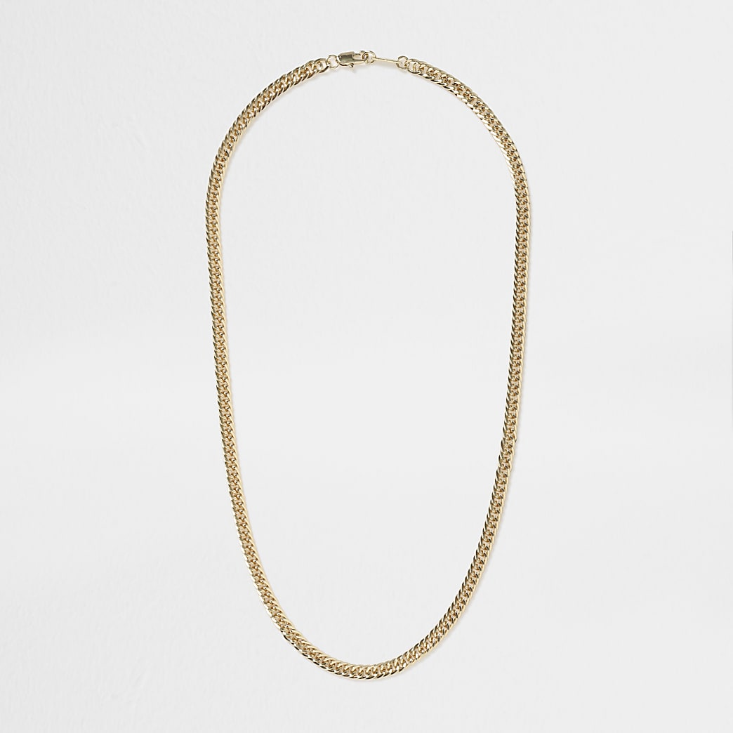 Gold colour figaro chain necklace
