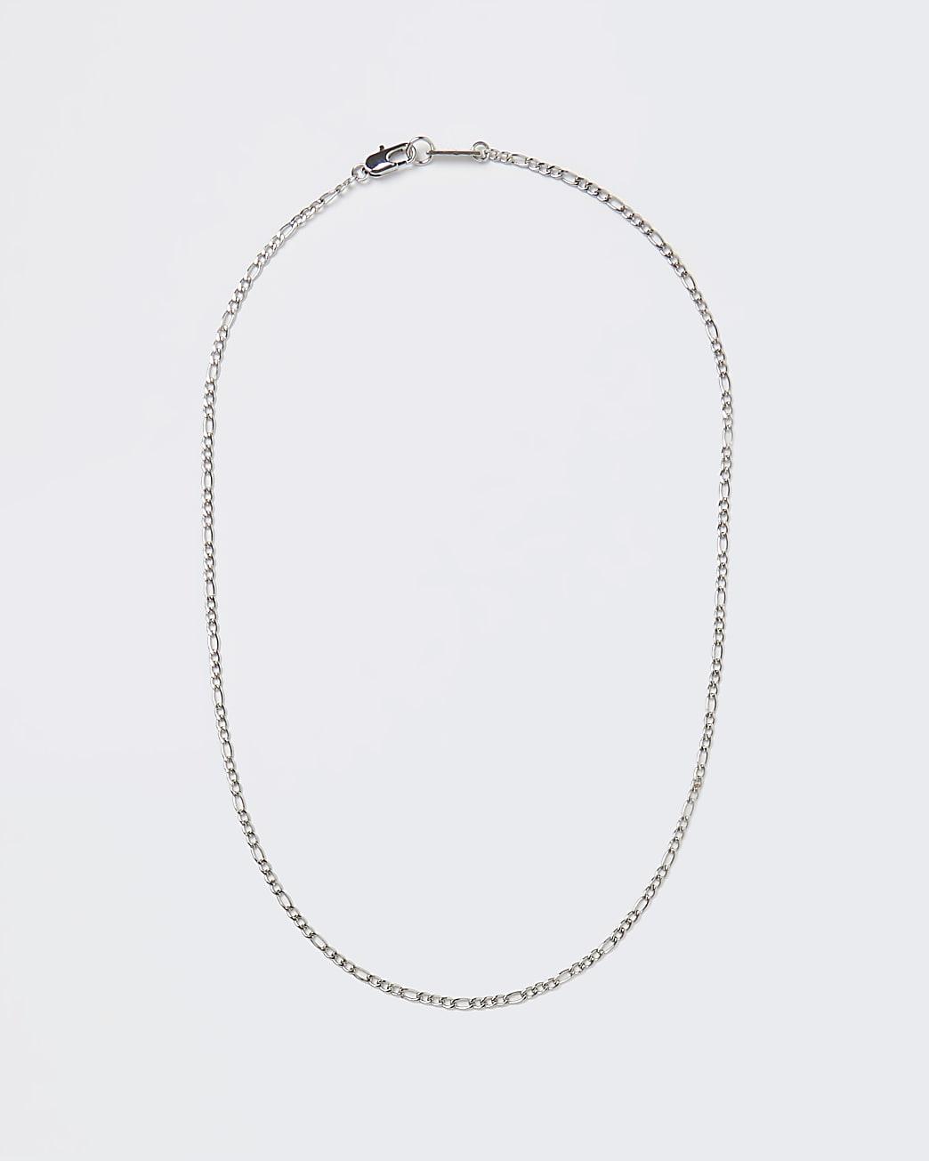 Gold colour fine chain necklace
