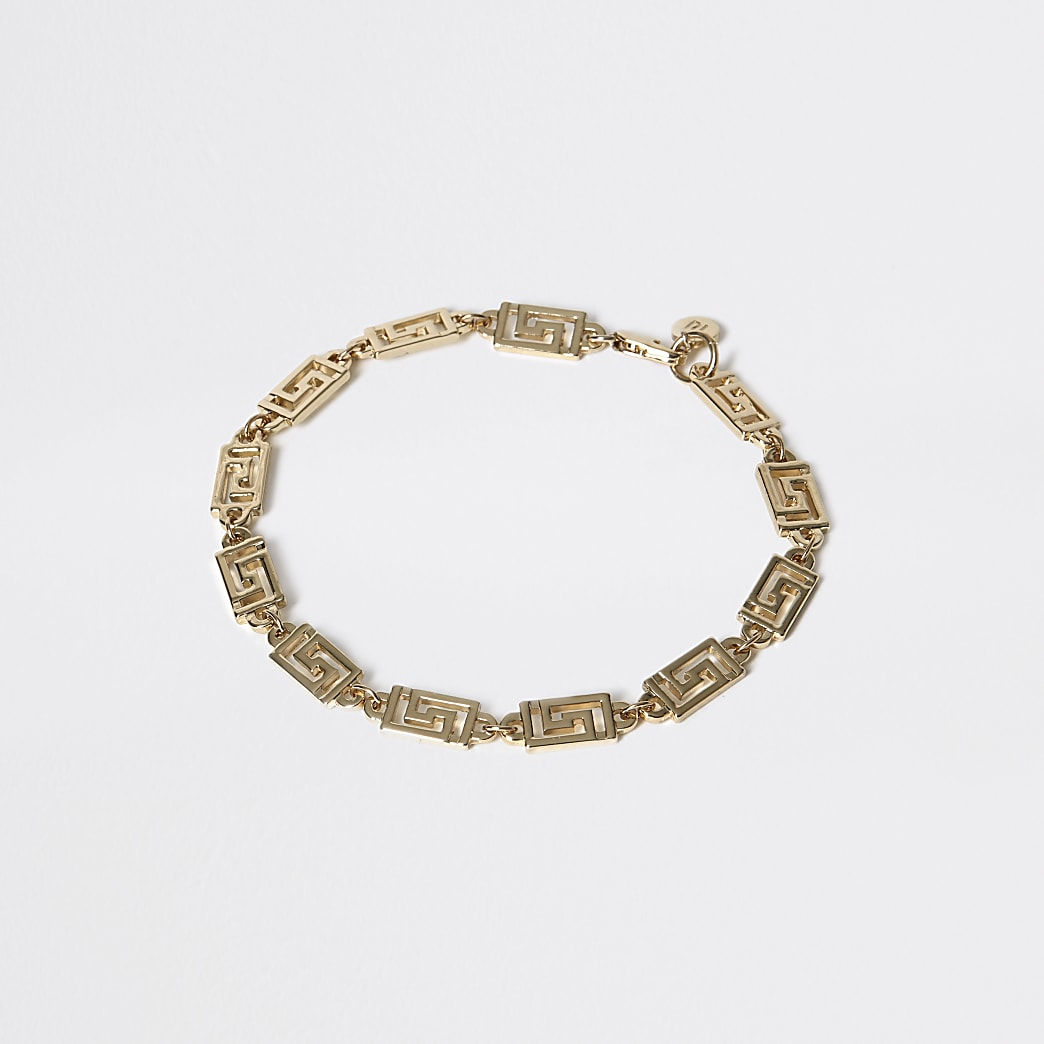 Gold colour geo bracelet