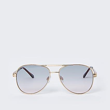 Gold colour greens lens aviator sunglasses