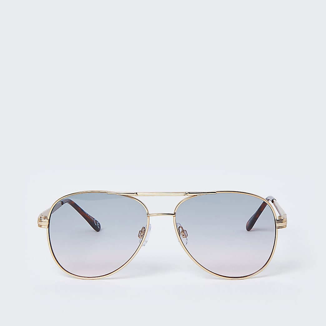 Gold colour greens lens aviator sunglasses