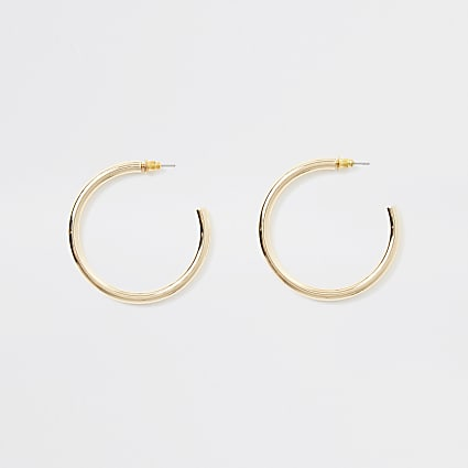 Gold colour hoop earrings