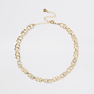 Goldfarbene Choker-Kette