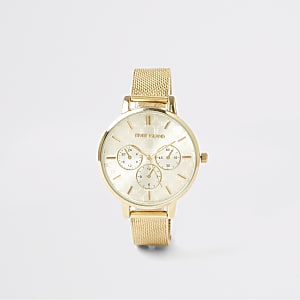 Gold colour mesh strap RI watch
