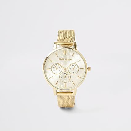 Gold colour mesh strap RI watch