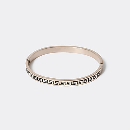 Gold colour roman numerals bangle