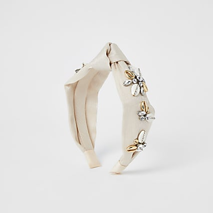 Gold colour shell alice band