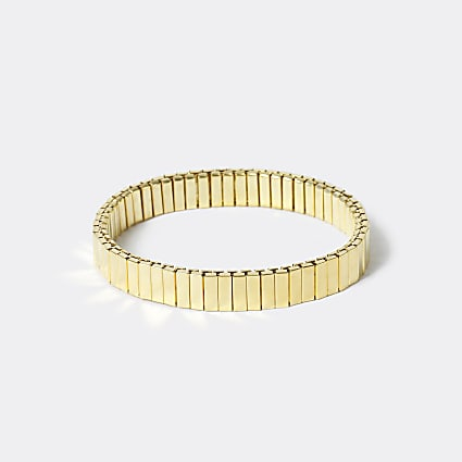 Gold colour stretch bracelet