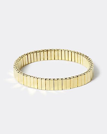 Gold colour stretch bracelet