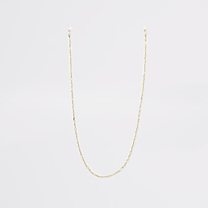 Gold colour sunglasses chain