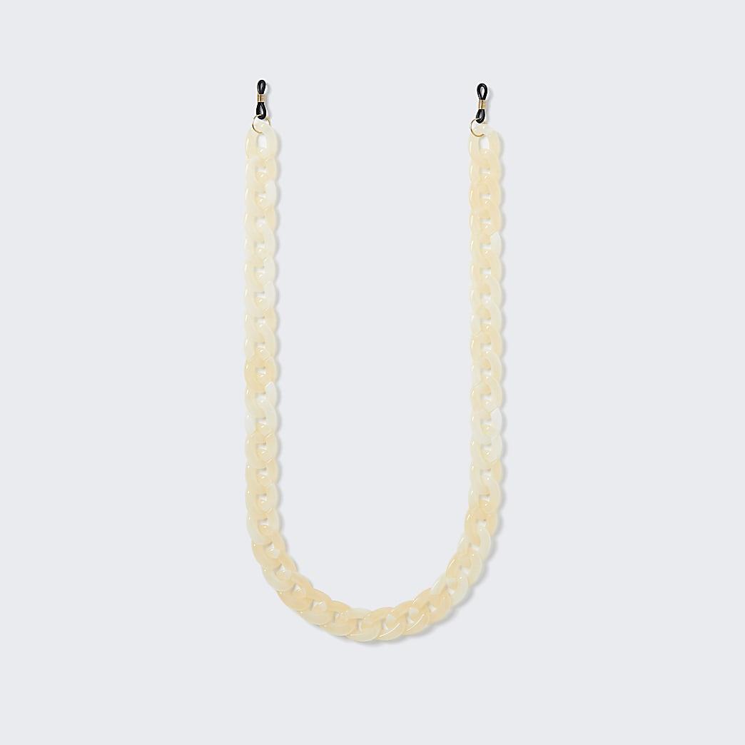 Gold colour sunglasses chain