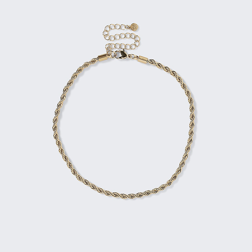 Gold colour twist chain choker