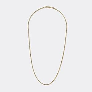 Goudkleurige ketting met gedraaid touwontwerp
