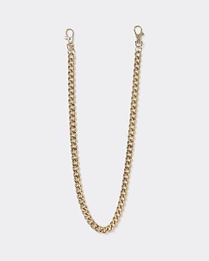 Gold colour wallet chain