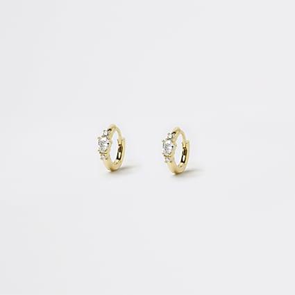 Gold crystal huggies
