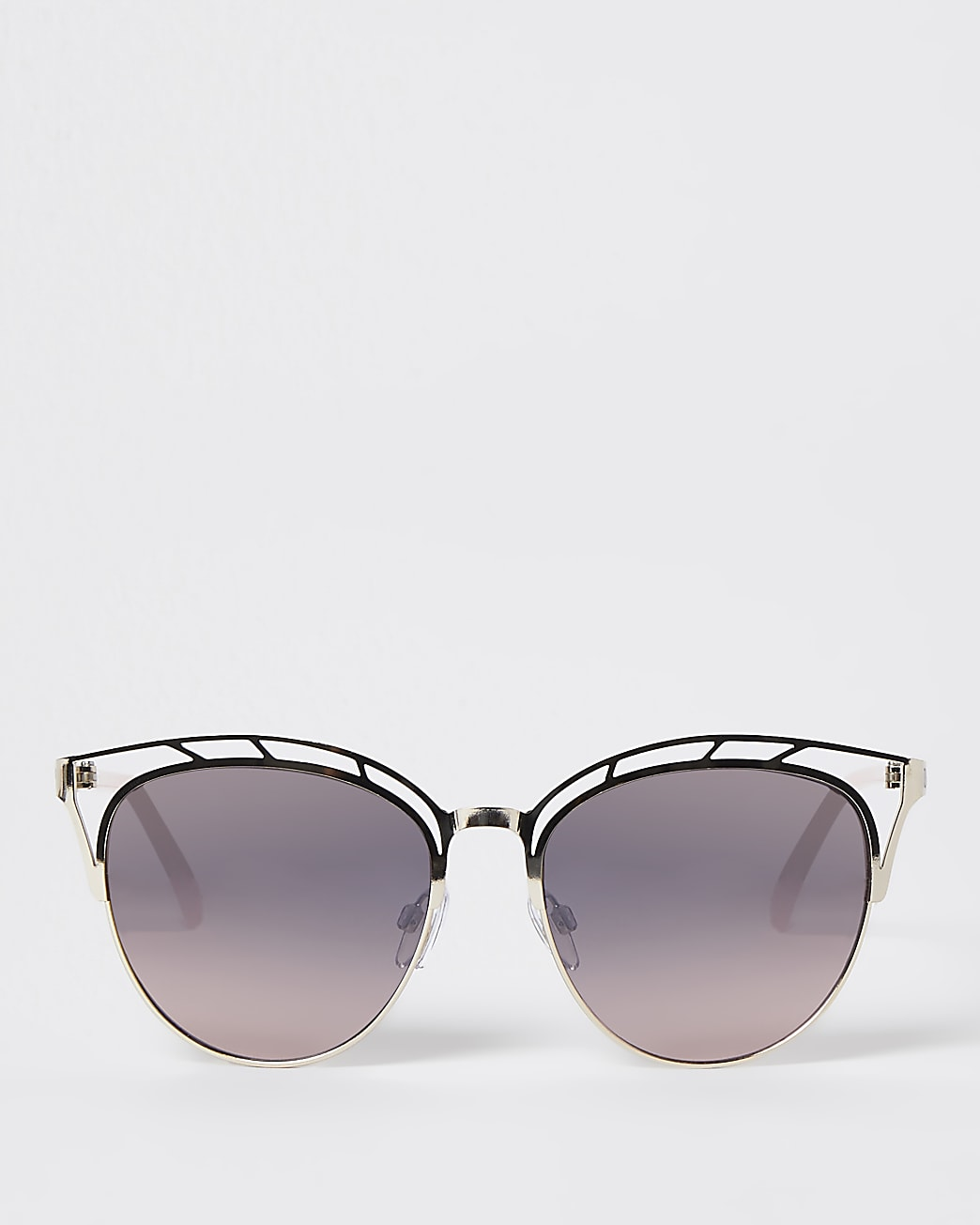 Gold cut out tinted sunglasses