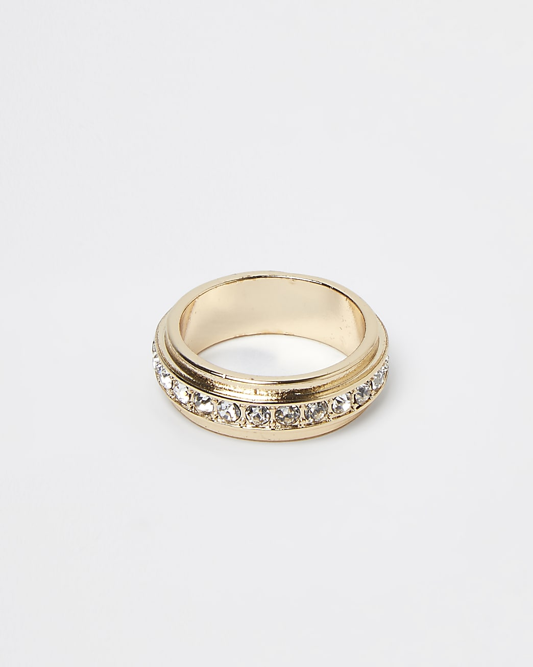 Gold diamante band ring