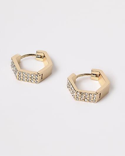 Gold diamante huggies