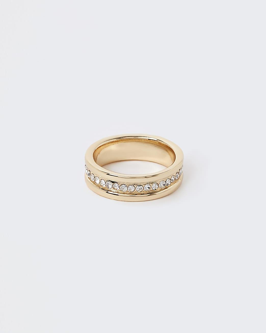 Gold diamante ring