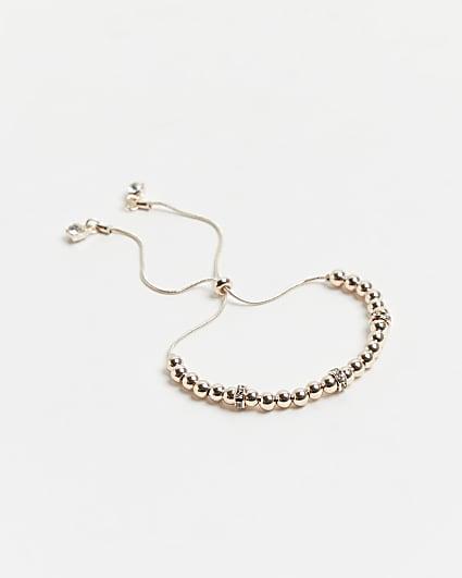 Gold diamante toggle bracelet
